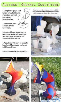 Organic 3D Wire Sculptures for kids #kidsart