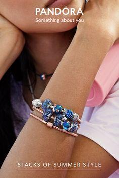 Pandora Bracelets, Pandora Jewelry, Pandora Charms, Cute Jewelry, Jewelry Accessories, Jewelry Design, Summer Bracelets, Metal Finishes, Or Rose