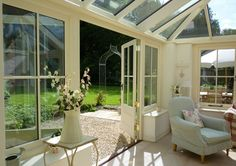 Conservatory garden room in Cotswolds
