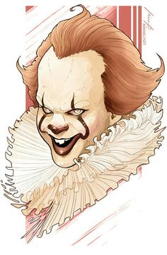 PENNYWISE Es Pennywise, Pennywise The Dancing Clown, Clown Names, Carrie White, Clowning Around, King Art, Horror Movies, Clowns, Book Art