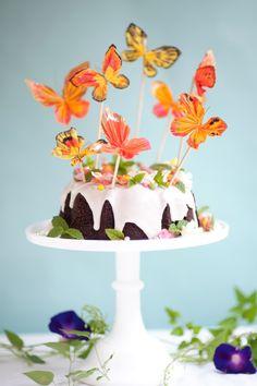 Crepe Paper Butterflies DIY