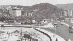 Praia de Botafogo em 1954.