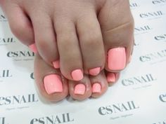 Baby pink toe nails