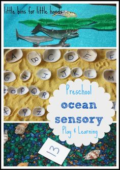 ocean sensory play and early learning activities