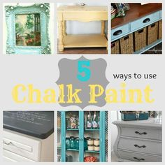 DIY Home Decor | Painted Furniture | Check out links to five beautiful chalk paint projects!