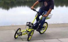 3輪なのに傾けて曲がれる電動アシスト「EV4 Bike」