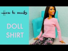 How to make doll shirt - sewing tutorial by Cesnca - YouTube