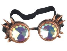 eb310a68017 Steampunk Welding Goggles with Changeable Lenses for Cosplay