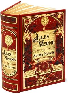 Jules Verne: Seven Novels Including: Five Weeks in a Balloon, Around the World in Eighty Days, A Journey to the Center of the Earth, From the Earth to the Moon, Round the Moon, Twenty-Thousand Leagues Under the Sea, and The Mysterious Island