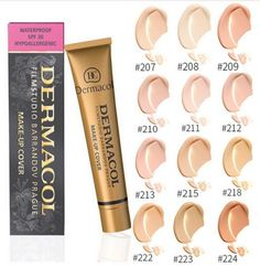 Best Base Makeup Cover Primer Concealer Base Professional Dermacol Make up Foundation Contour Palette Waterproof Makeup, Primer Cosmetics, Makeup Cosmetics, Dermacol Cover, Make Up Concealer, Dark Eyeshadow, All Natural Makeup, Acne Marks, Hollywood Actresses