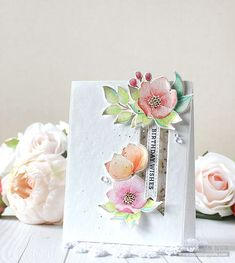 RejoicingCrafts: Birthday card with the Simon Says Stamp Even More Spring Flowers Stamp Set. #simonsaysstamp #birthday #handmade #card #watercolor #flower