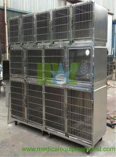 Stainless steel dog cage - MSLVC01