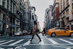 Manhattan | Collage Vintage | Coat: Zara; Cardigan: Asos; Top: Billabong; Jeans: Topshop; Sneakers: Superga; Bag: Chanel Vintage Collar/Chocker: Free People,