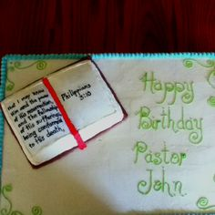 Bible cake... Who wants to make this for me for my next birthday? :-)