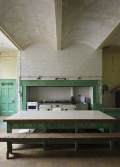 Kitchen showing fireproof construction ceiling at Tyntesfield, North Somerset, UK. nationaltrustimages.org.uk