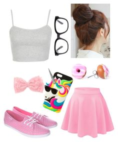 """""""Lazy day"""" by nat-cat-iconic ❤ liked on Polyvore featuring Topshop, Vans, Pin Show, Forever 21 and claire's"""