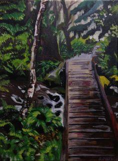 Sombrio Beach Oil Painting