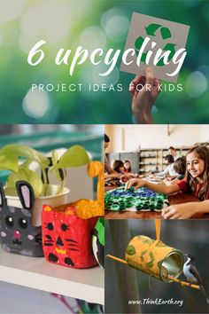 Create an Upcycling Bin and fill it with items like cardboard tubes and boxes, cleaned plastic food containers, all kinds of paper, packing materials, etc. Kids can use basic supplies like scissors, tape, glue, and markers to turn these materials into art, toys, games, or anything they can imagine! And many of these projects also get kids hands-on using science concepts and skills! Earth Day Activities, Hands On Activities, Learning Activities, Projects For Kids, Art Projects, Plastic Food Containers, Cardboard Tubes, Environmental Education, Kids Hands
