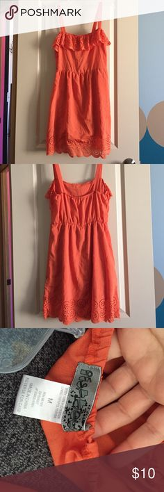 Summer light dress/coverup Orange dress or  cover up polyester fabric so easy to use at beach as cover up Dresses