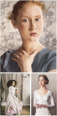 Simone Bingmer's pastel portraits