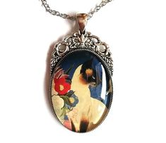 Cat Cameo Necklace, Siamese Cat Necklace, Kitty Necklace, Art Cameo Necklace Cameo Necklace, Gemstone Necklace, Cat Lover Gifts, Cat Gifts, Cameo Pendant, Raw Gemstones, Catio, Siamese Cats, Lovers Art