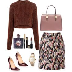 comfortable day by jasive-asseff-jamous on Polyvore featuring мода, TIBI, Warehouse, Christian Louboutin, Bulgari, MAC Cosmetics and Yves Saint Laurent