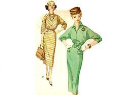 1950s Dress Pattern Simplicity 3127 Sheath by NeenerbeenerKnits