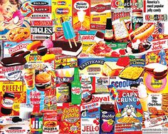 """""""Things I Ate As A Kid"""" ~ a 1000 piece jigsaw puzzle by White Mountain Puzzles. Artist: Charlie Girard"""