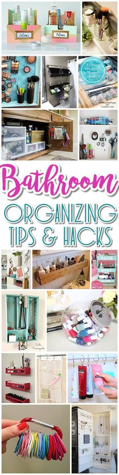 EASY Inexpensive Do it Yourself Ways to Organize and Decorate your Bathroom and Vanity -The BEST DIY Space Saving Projects and Organizing Ideas on a DIY Budget - Dreaming in DIY