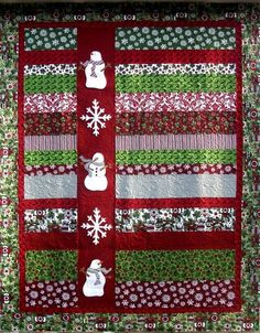 Snowmen In a Row Quilt pattern from Stitches and Sew Forth