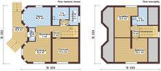Планировка одноэтажного дома 10 на 10 м с мансардой