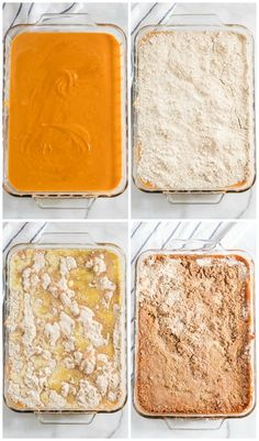 This pumpkin dump cake is a great twist on the classic, old-fashioned pumpkin pie. It's easy to make and comes together quickly to offer a crowd-pleasing, decadent dessert that is the best served warm and Pumpkin Spiced Latte Recipe, Pumpkin Pie Mix, Pumpkin Pie Recipes, Pumpkin Dessert, Pumpkin Spice Latte, Fall Dessert Recipes, Delicious Desserts, Yummy Food, Pumkin Dump Cake