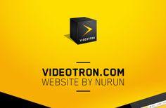 Videotron.com by Yann Lodewijck, via Behance