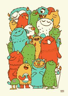 Иллюстрации популярного художника Greg Abbott.