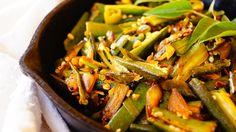 Lady'sfinger Stir-fry Recipe. Lady'sfinger stir fry: An easy vegetarian side dish for lunch.