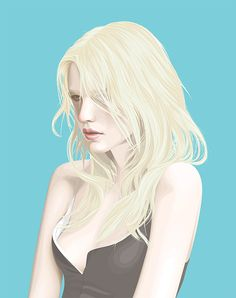 Yuschav Arly is a self-taught artist from Bali. In his clean, minmalistic illustrations Yuschav portrays beautiful women completely built in vector shapes.