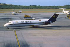McDonnell Douglas DC-9-32 (YV-24C, c/n 47727) of Aeropostal at Maiquetia Inter. airport on Dec 19, 2001. by Aero Icarus