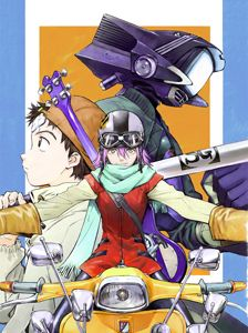 FLCL (Japanese: フリクリ - pronounced in English as Fooly Cooly) is an anime series written by Yōji Enokido and directed by Kazuya Tsurumaki. The six-episode series was released in Japan from April 2000 to March Neon Genesis Evangelion, Expo Anime, Flcl Haruko, Manga Art, Manga Anime, Furi Kuri, Little Busters, Fanart, Anime Art Fantasy