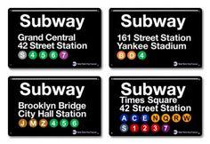 Brooklyn Subway Sign inspired name tags
