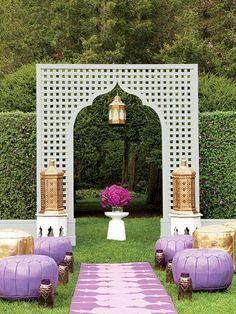Looking for Sweet & Romantic Backyard Wedding Decor Ideas? Moroccan Party, Moroccan Wedding, Moroccan Decor, Modern Moroccan, Moroccan Garden, Morrocan Theme, Exotic Wedding, Wedding Spot, Wedding Table