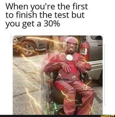 When you're the first to finish the test but you get a - iFunny :) Really Funny Memes, Stupid Funny Memes, Funny Relatable Memes, Haha Funny, Funny Cute, Hilarious, Find Memes, Dankest Memes, Funny Images