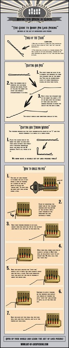 Im not sure id ever need to know this but its pretty cool to know in case your kids lock you out. Or you lose your keys maybe? Im not sure id ever need to know this but its pretty cool to know in case your k… Survival Life Hacks, Survival Tips, Survival Skills, Camping Survival, Bushcraft Camping, Survival Quotes, Outdoor Survival, Outdoor Camping, Simple Life Hacks