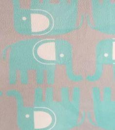 Soft N Comfy Fabric- Elephant Blue