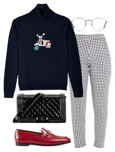 """Untitled #1806"" by emmastrouse ❤ liked on Polyvore featuring EUDON CHOI, Gucci, Chanel and Ray-Ban"