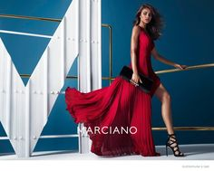 Yara, Rachel + Solveig Star in Guess by Marciano Fall 2014 Ads by Hunter & Gatti Beautiful Red Dresses, Glamorous Dresses, Fall Winter 2014, Red Fashion, Runway Fashion, Fashion Outfits, High Fashion, Fashion Poses, Fashion Portraits