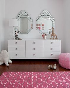Room ideas for Grace's redo.  http://decor8blog.com/2012/02/07/darling-pink-girls-bedroom/#