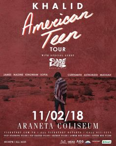 bretjackson Tweet Oct 29 2018 CarelessMusicManila opening Khalid Tour Tour Posters, Music Posters, Minimalist Music, Oct 29, Khalid, Special Guest, Graphic Tees, Stage, Teen