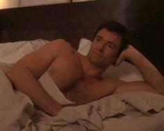 Hugh Jackman shirtless bed