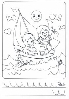 Léto Colouring Pages, Coloring Sheets, Coloring Books, Coloring For Kids, Adult Coloring, Summer Crafts, Crafts For Kids, Tracing Sheets, Beautiful Landscape Paintings