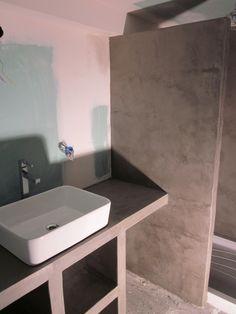 amnagement dune petite salle de bain sur mesure bton cir